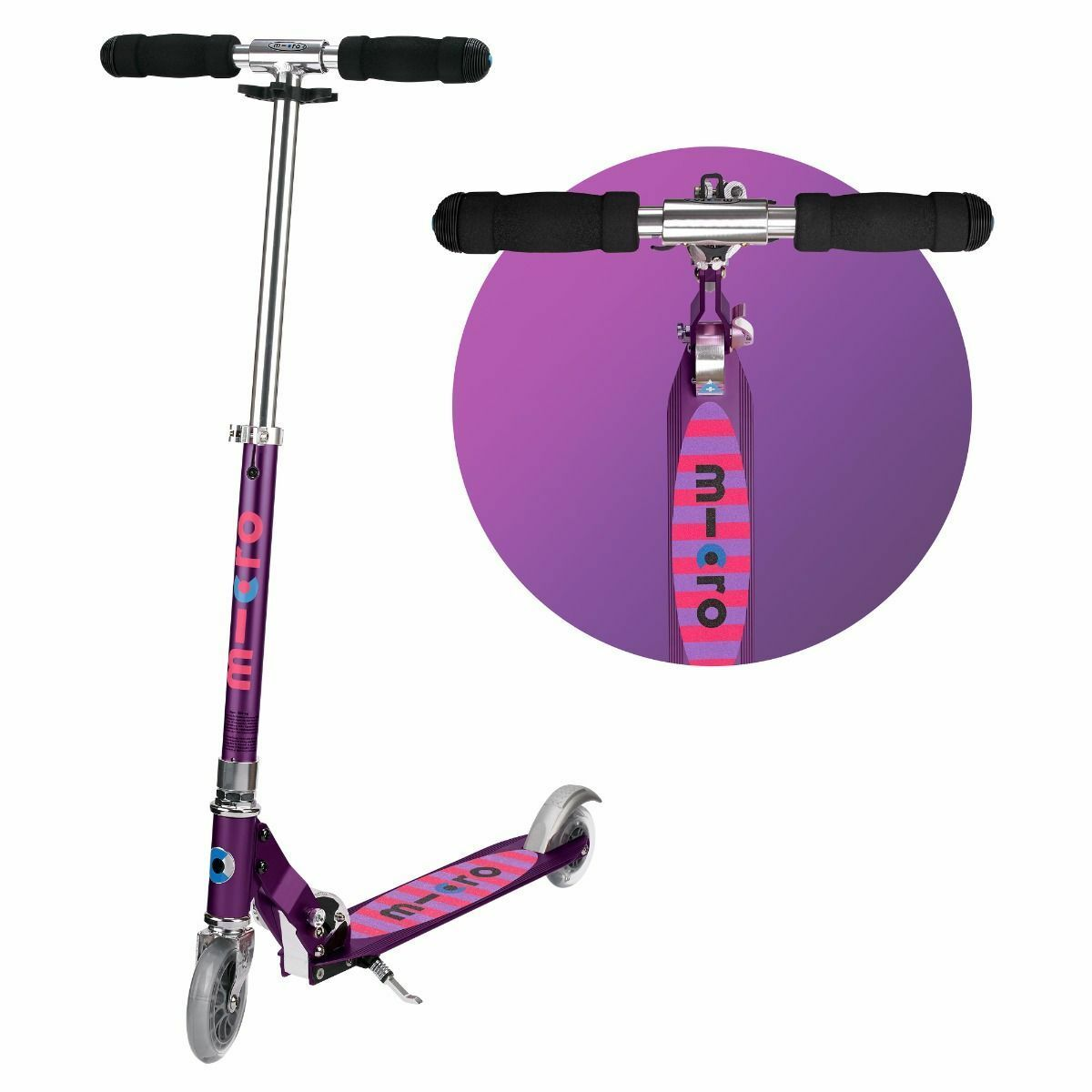 Micro Sprite Scooter - Purple Stripe