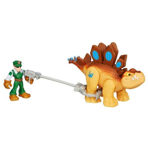 Playskool héros jurassic world tracker stegosaurus dinosaure et figure B0533