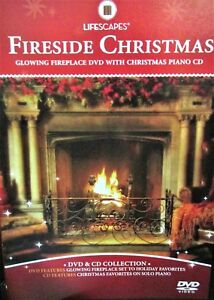 Fireplace Christmas Music.Details About Cracklin Fireplace Dvd Cd 2 Set Yule Log Christmas Music Piano Plays Loop
