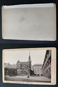 Allemagne-Dresde-cour-a-l-039-interieur-du-chateau-Vintage-print-carte-cabin