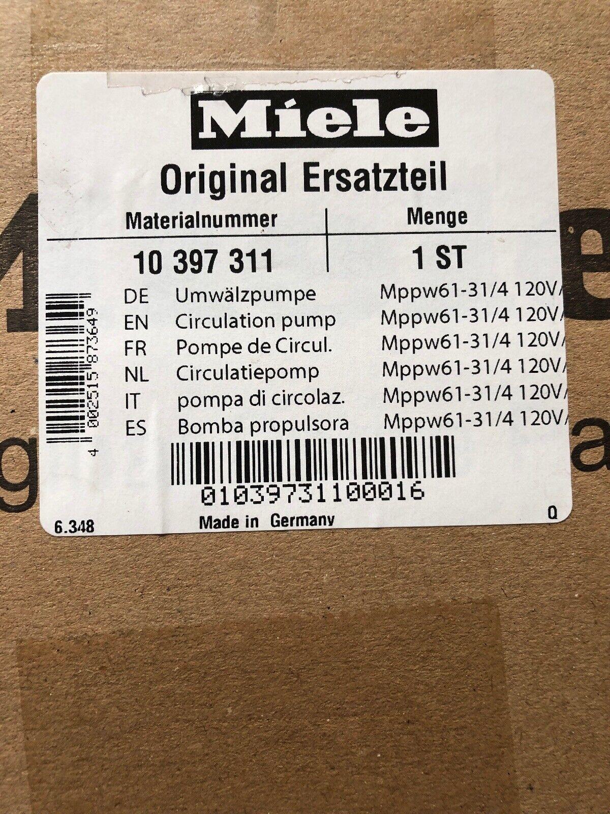Miele Circ Pump 10 397 311, 10397311