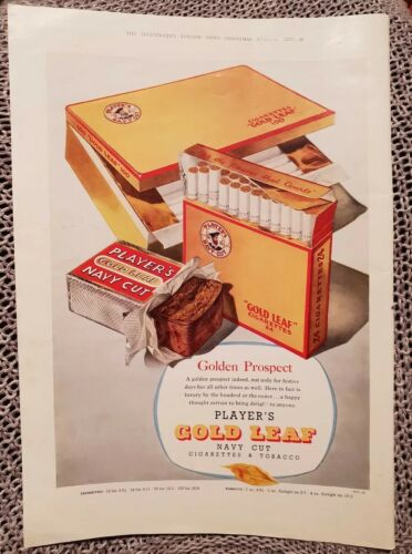 Player's Gold Leaf s & Tobacco 1957 Advertisement
