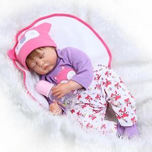 22-034-Bebe-Reborn-Baby-Girl-Doll-Silicone-Vinyl-Realistic-Newborn-Lifelike-Gift-US