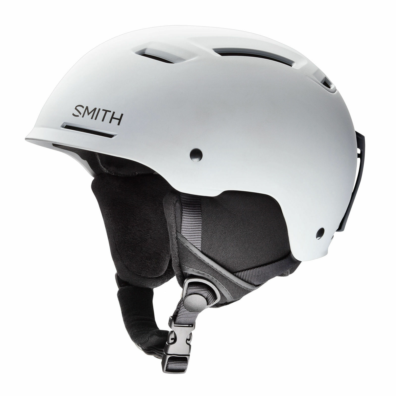 Smith Ski Helmet Snowboard Helmet Pivot Mips White Plain Colour Ear Cushion