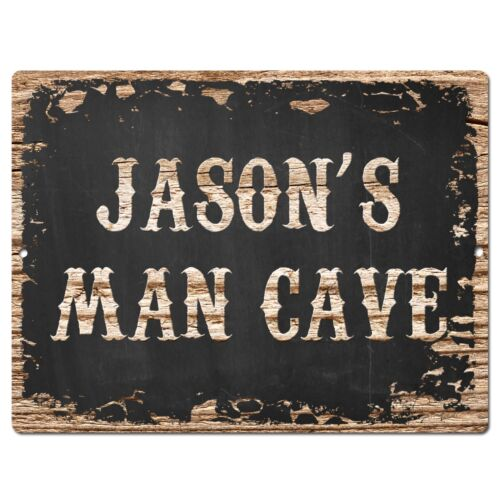 PP1628 JASON/'S MAN CAVE Plate Chic Sign Home Room Garage Decor Birthday Gift