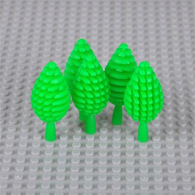 5pcs City Block Building Blocks Mini Trees Plants DIY Bricks Figure Toys JH