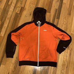 Nike-Dri-Fit-Lebron-Full-Zip-Jacket-Men-039-s-Size-L-W-FREE-NIKE-Dri-Fit-Shirt