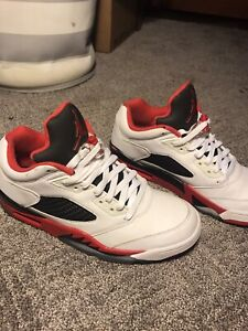 Nike air jordan v 5 fire red Size 9.5