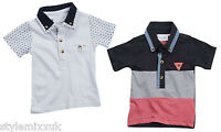 Boys Cheap Cotton Polo Shirt Pique Top Kids Baby Vintage Button Top 3 Mth-13 Yrs