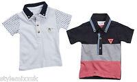 Boys Cheap Cotton Polo Shirt Pique Top Kids Baby Vintage Button Top 3 Mth-13 Yrs