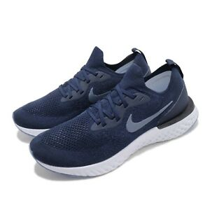quality design d5524 49d58 Image is loading Nike-Epic-React-Flyknit-Navy-Diffused-Blue-Men-