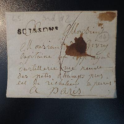 100% Kwaliteit France Marque Postale Lettre Cover Soissons Sans Date L5 Modieuze (In) Stijl;