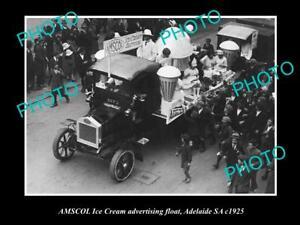 OLD-HISTORIC-PHOTO-OF-ADELAIDE-SA-AMSCOL-MILK-amp-DAIRY-ICE-CREAM-FLOAT-c1925