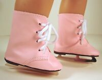 Ice Skates Pink Winter Skating Shoes Made For 18 In American Girl Doll Clothes