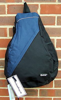 NEW BLACK WITH NAVY TRIM HI-TEC MONO STRAP TRIANGLE ONESTRAP SPORTS BACKPACK
