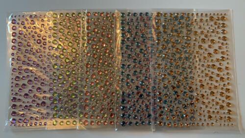 Dawn BIBBY 5 Feuilles de autocollante Facettes Gems-Couleurs pastel-Neuf