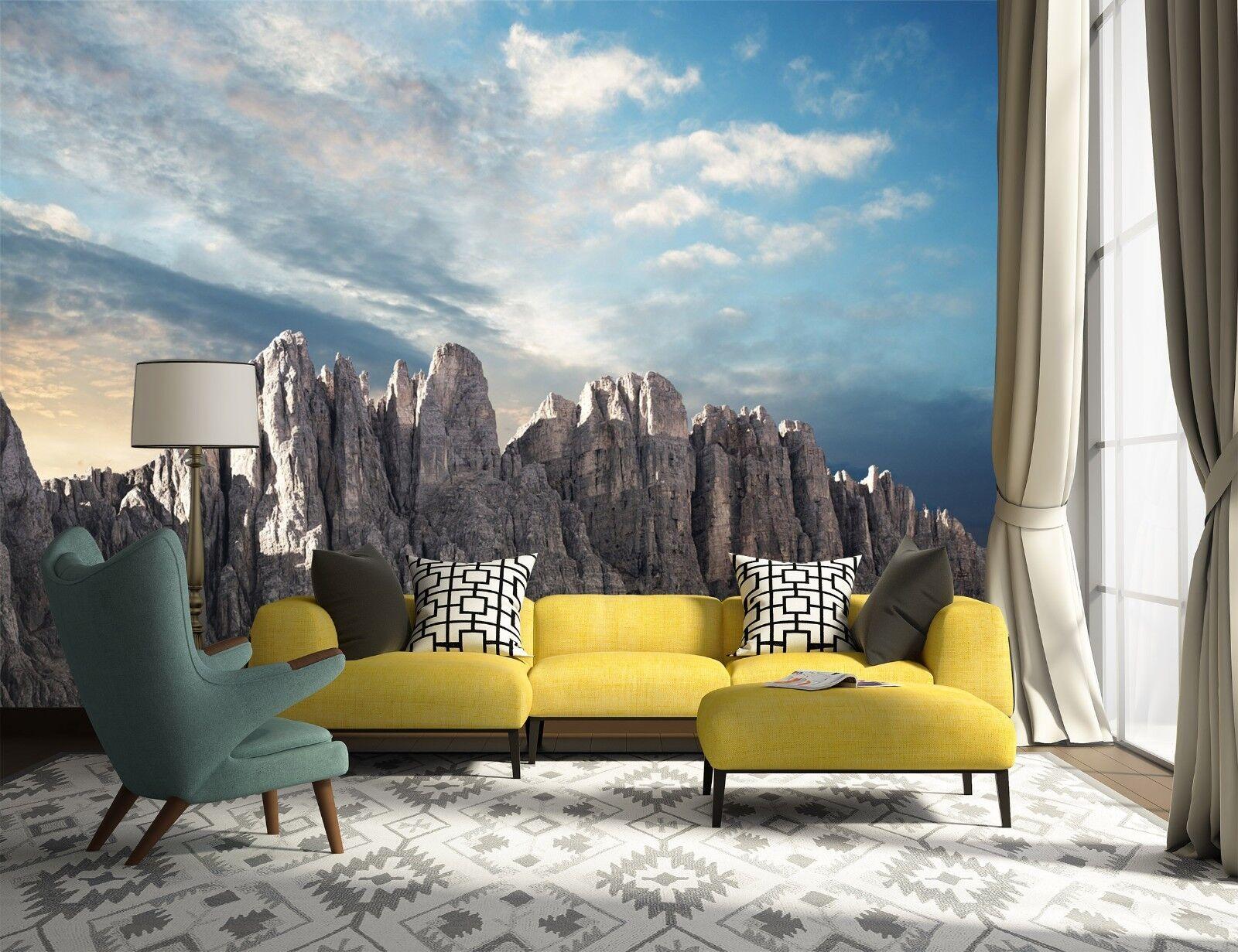 3D Himmel Berg Natur 9833 Tapete Wandgemälde Tapeten Bild Familie DE Lemon