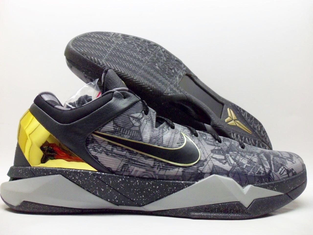 outlet store b5b09 1c885 good NIKE ZOOM KOBE VII 7 SYSTEM PRELUDE COOL GREY GOLD SIZE MEN S 18