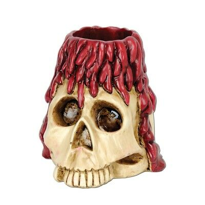 NEW SKULL AND CANDLE TEA LIGHT HOLDER Party Supplies
