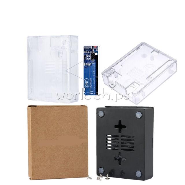 ABS Case Shell Enclosure Clear/Black Box+Screw For Arduino Mini/Micro USB UNO R3
