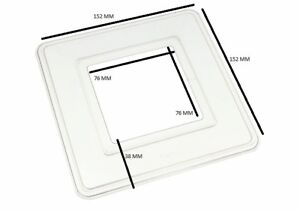 Simple Interrupteur De Lumière Surround Doigt Plaque Arrière en Plastique Transparent Pack de 12