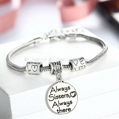 Engraved Words Bracelets Snake Chain Pet Family Friends Teachers Gifts Jewelry