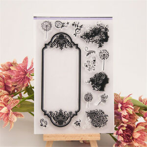 Beautiful-Flower-Fairy-transparent-silico-clear-rubber-stamp-cling-diary-decor-R