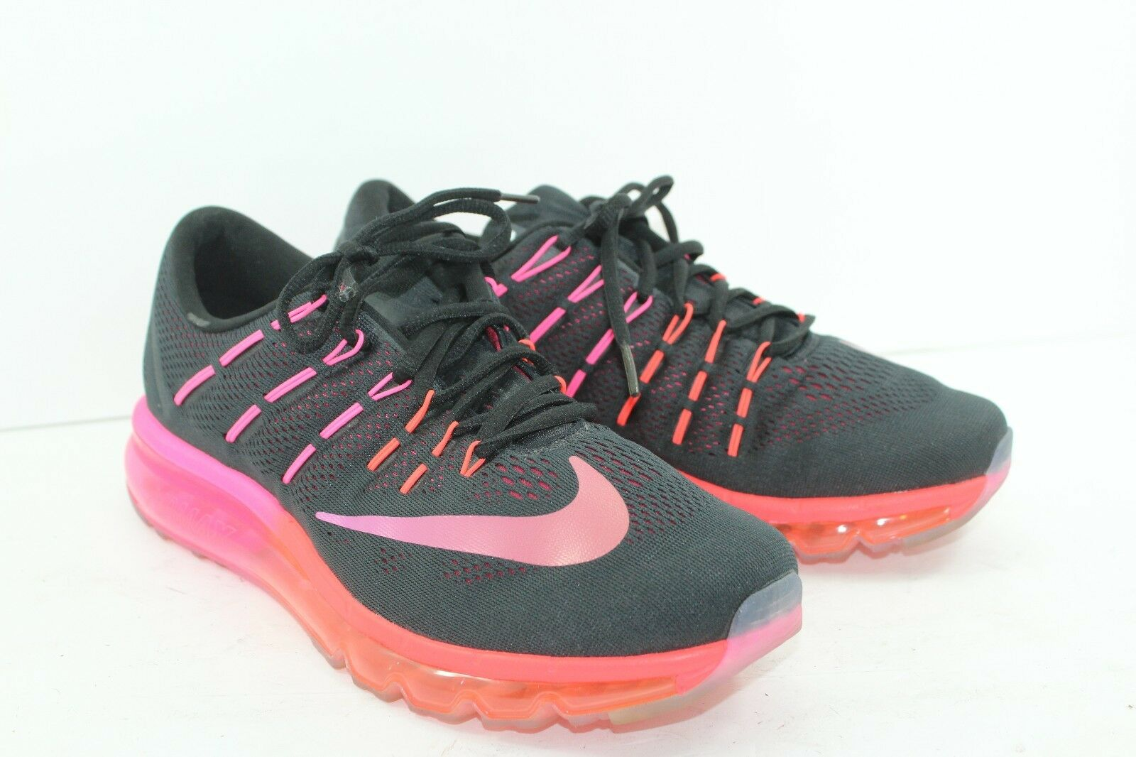 NIKE AIR 2016 BLACK PINK IN PRISTINE CONDITION SZ 12 WOMEN'S