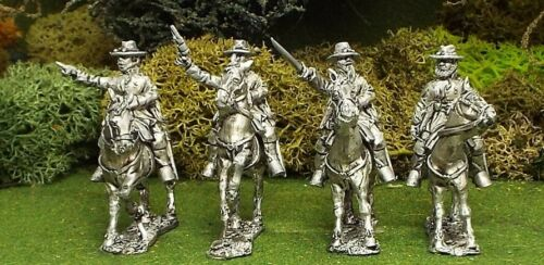 28mm 1st Corps American Civil War Mounted Colonels Wearing Slouch Hat.