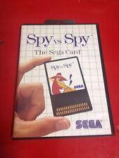**SPY Vs SPY THE SEGA CARD **  RARE SEGA MASTER SYSTEM GAME (SEE SHOP)