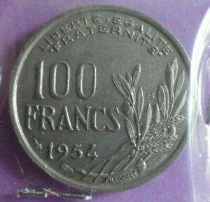 100-Francs-Cochet-1954-B-TTB-piece-de-monnaie-Francaise-N19