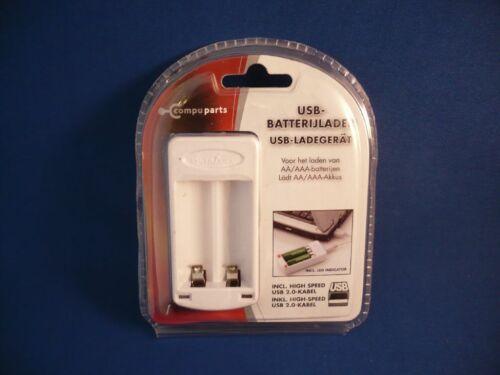 Akkus inkl oder AAA- Micro Mignon USB-Akkulader für AA- USB 2.0 Kabel !