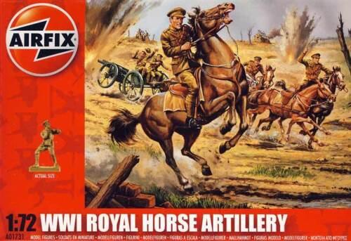 Airfix Soldaten British Royal Horse Artillery britische Artillerie WWI 1:72 kit
