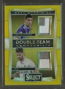 2016-17 Panini Select Soccer James Rodriguez Isco Dual Patch Gold Prizm 10/10