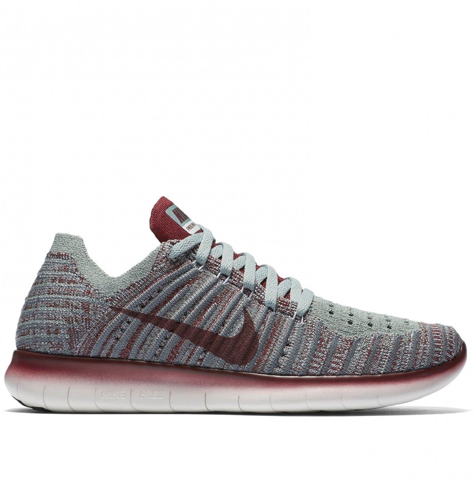 Wmns Nike Free RN Flyknit Gyakusou UK 6 EUR 40 New Wolf Grey TM Red  844101 006