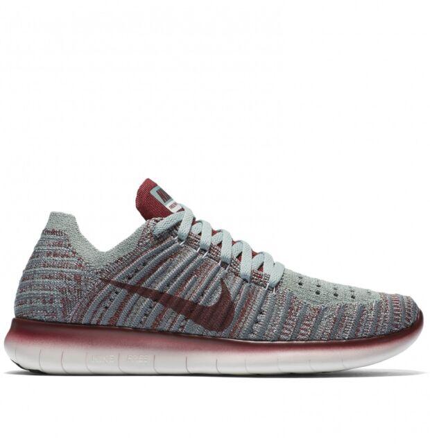 45cb55a5f710 Wmns Nike Free RN Flyknit Gyakusou UK 4.5 EUR 38 New Wolf Grey TM Red 844101