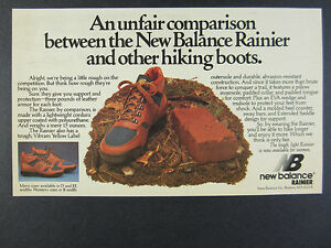 New Randonnée Photo Bottes Ad Print Vintage Rainier 1983 Balance De 1dxUPPw