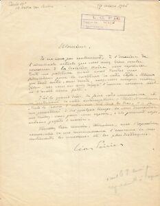 Leon-POIRIER-Lettre-autographe-signee-Expedition-Citroen-La-Croisiere-Noire