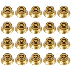 20-PCS-Gold-guitare-regulateur-pour-guitare-Pieces-de-rechange-Arbre-6-mm