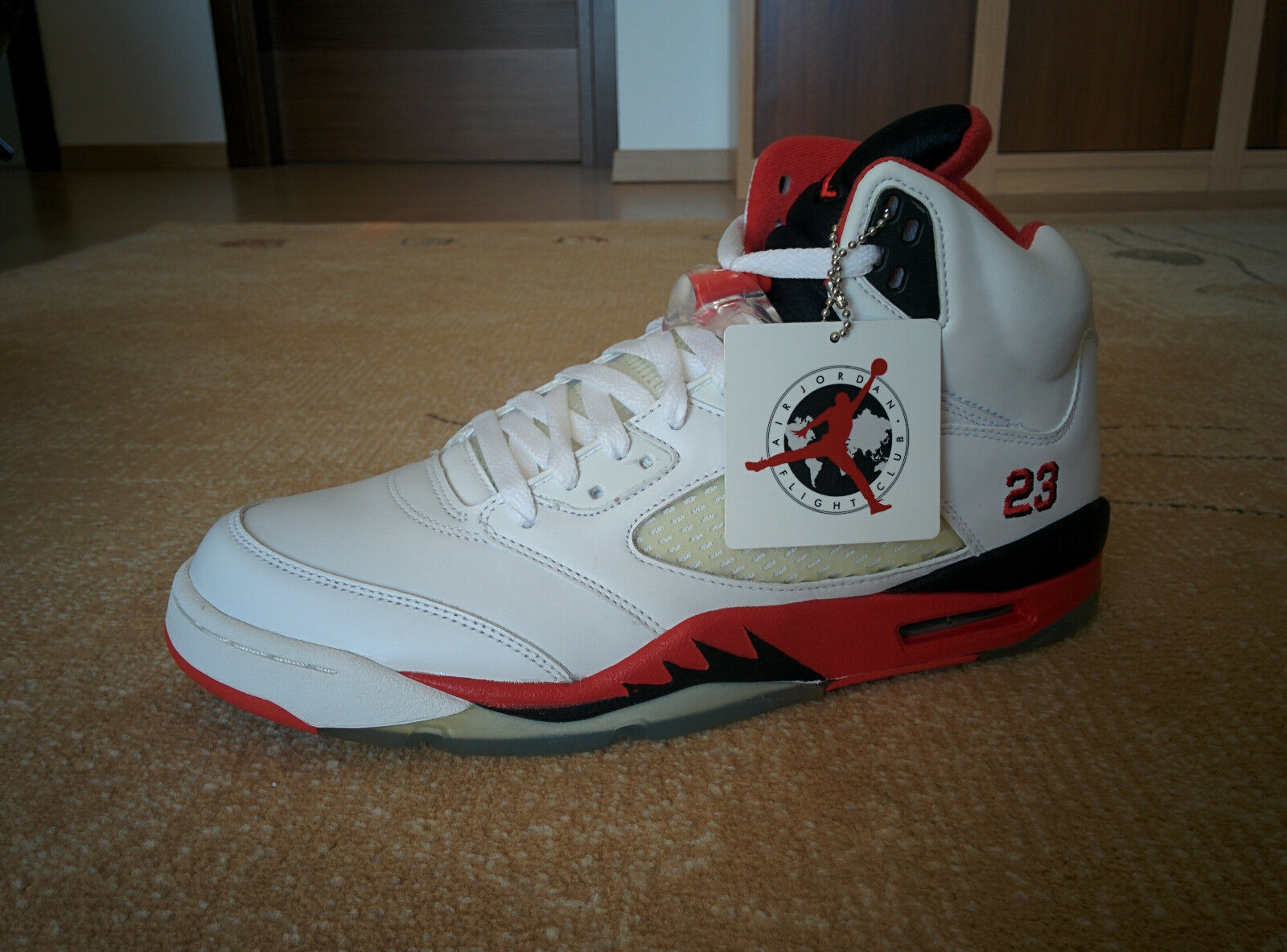 Nike Air Jordan 5 Retro Fire Reds-White-Fire Red-Black