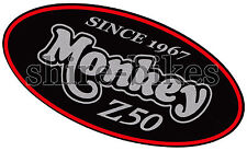 Honda Black 1 Side Cover Sticker suitable for use with Monkey Bike Motorcycles