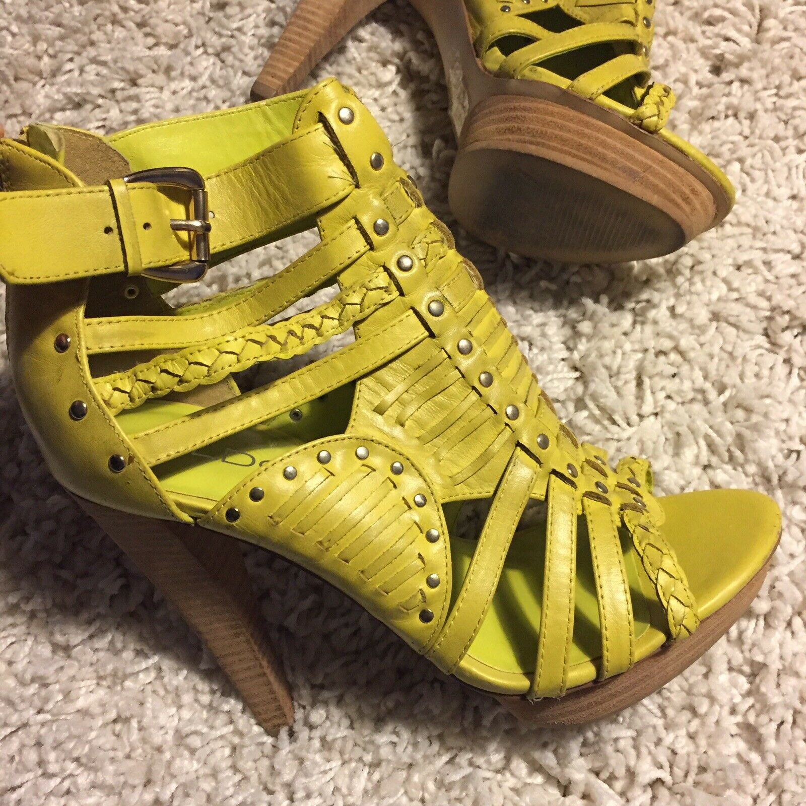sconto prezzo basso Lime Lime Lime verde Caged Sandal Heels by Aldo Sz.7  benvenuto a scegliere