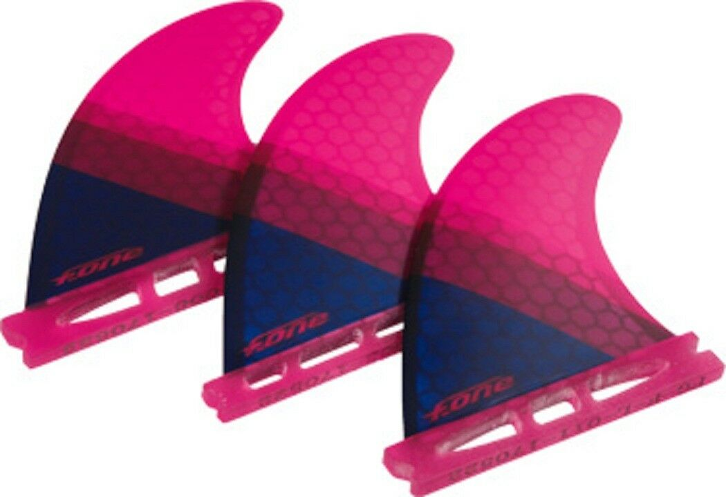 F-ONE FLOW XS THRUSTER PAIR REPLACEMENT SURFBOARD FINS RED COLOR 3 FINS WTH TOOL