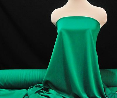 "SCUBA NEOPRENE 4 WAYS STRETCH EMERALD  60 /"" WESTERN WEAR DRESS AND PANT WEIGHT"
