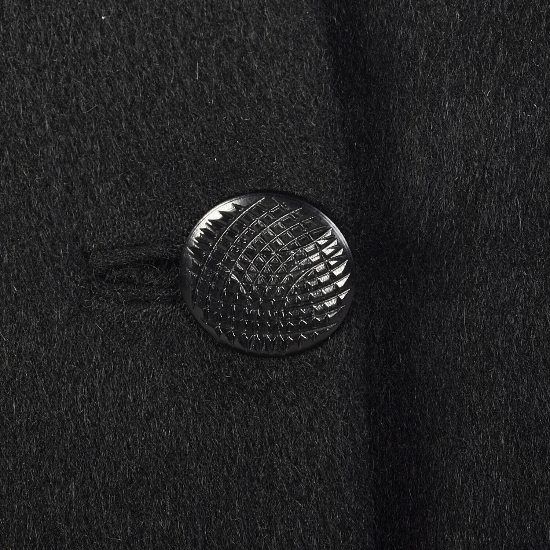 Large 1950s Princess Coat Black Wool Batwing Dolm… - image 8