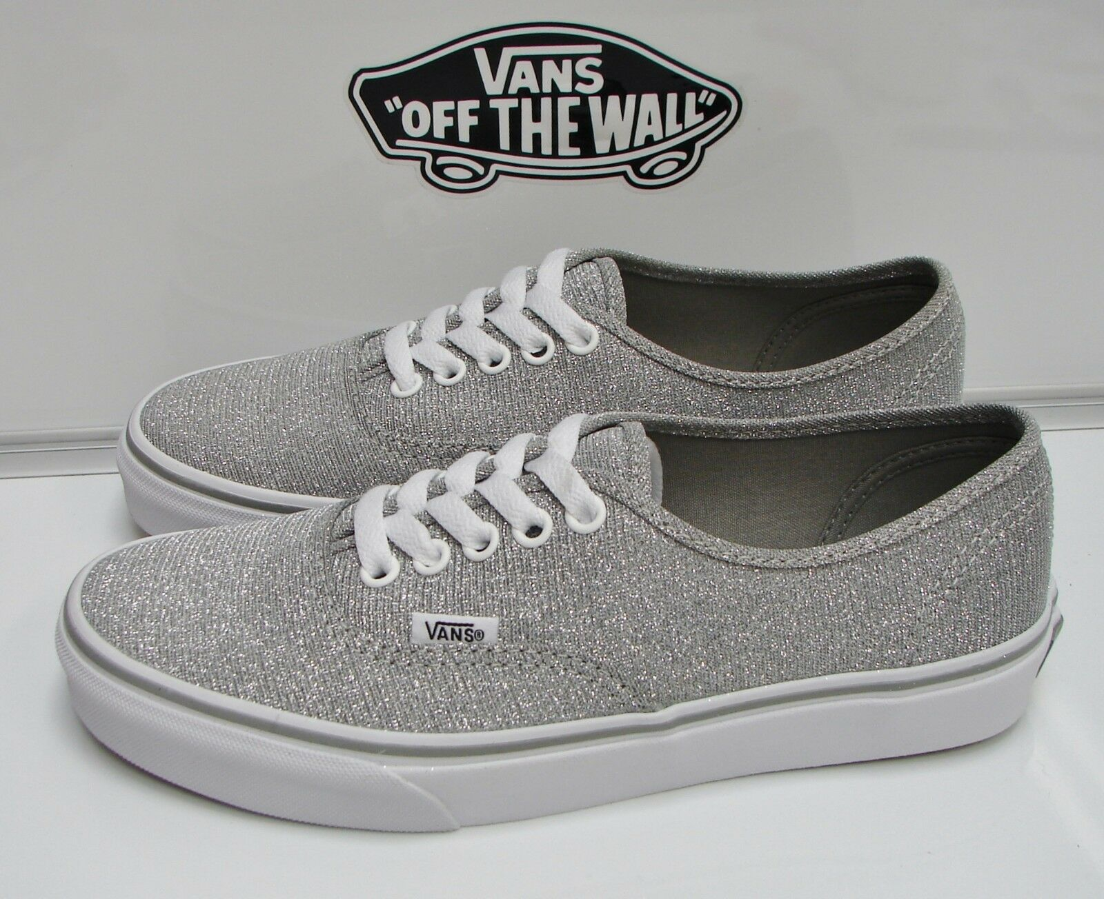 VANS AUTHENTIC (SHIMMER) SILVER VN-000VOEC3A WOMEN'S SIZE  7.5 7.5 7.5 a2927b
