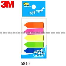 3m Post It Flags 584 5 5 Colors Bookmark Point Sticky Note Plastic Paper Index