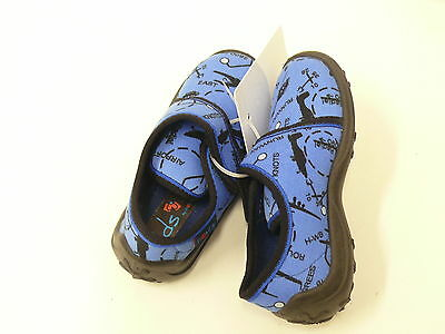 ROHDE Kinderschuhe Segeltuch blau mit lustigen Motiven Gr 24 262
