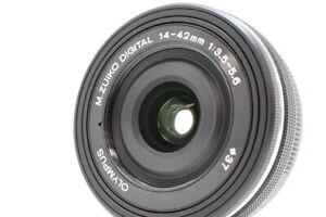 Neuwertiger-Olympus-M-Zuiko-Digital-14-42mm-f3-5-5-6-ED-EZ-MSC-schwarz-aus-Japan