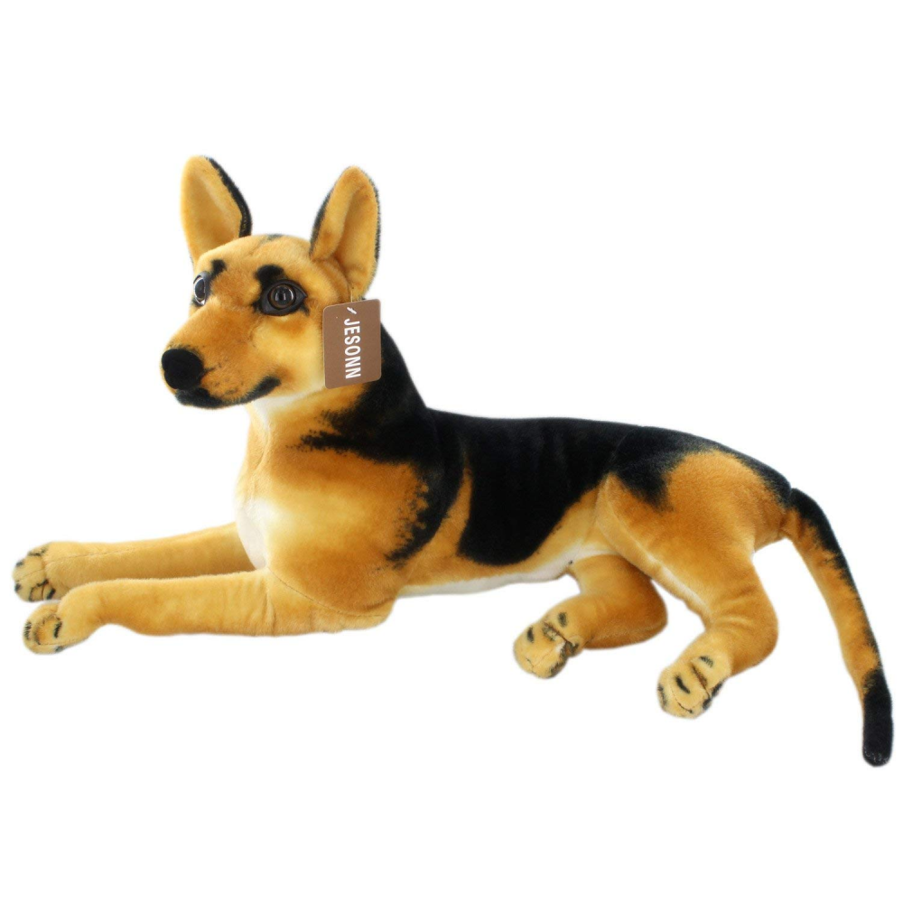Jesonn Realistic Large Stuffed Animals German Dog Shepherd Plush Toys,23.6